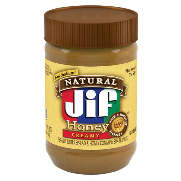 Jif Natural Creamy Honey Peanut Butter 454g x 12 6kg