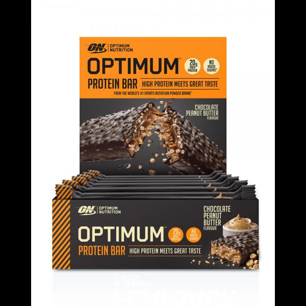 Optimum Nutrition Optimum Protein Bar Chocolate Peanut Butter Box