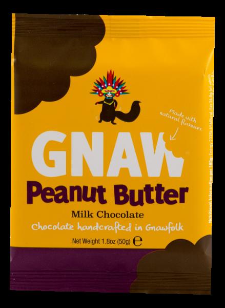 Gnaw Chocolate Peanut Butter Mini Tafel 50g