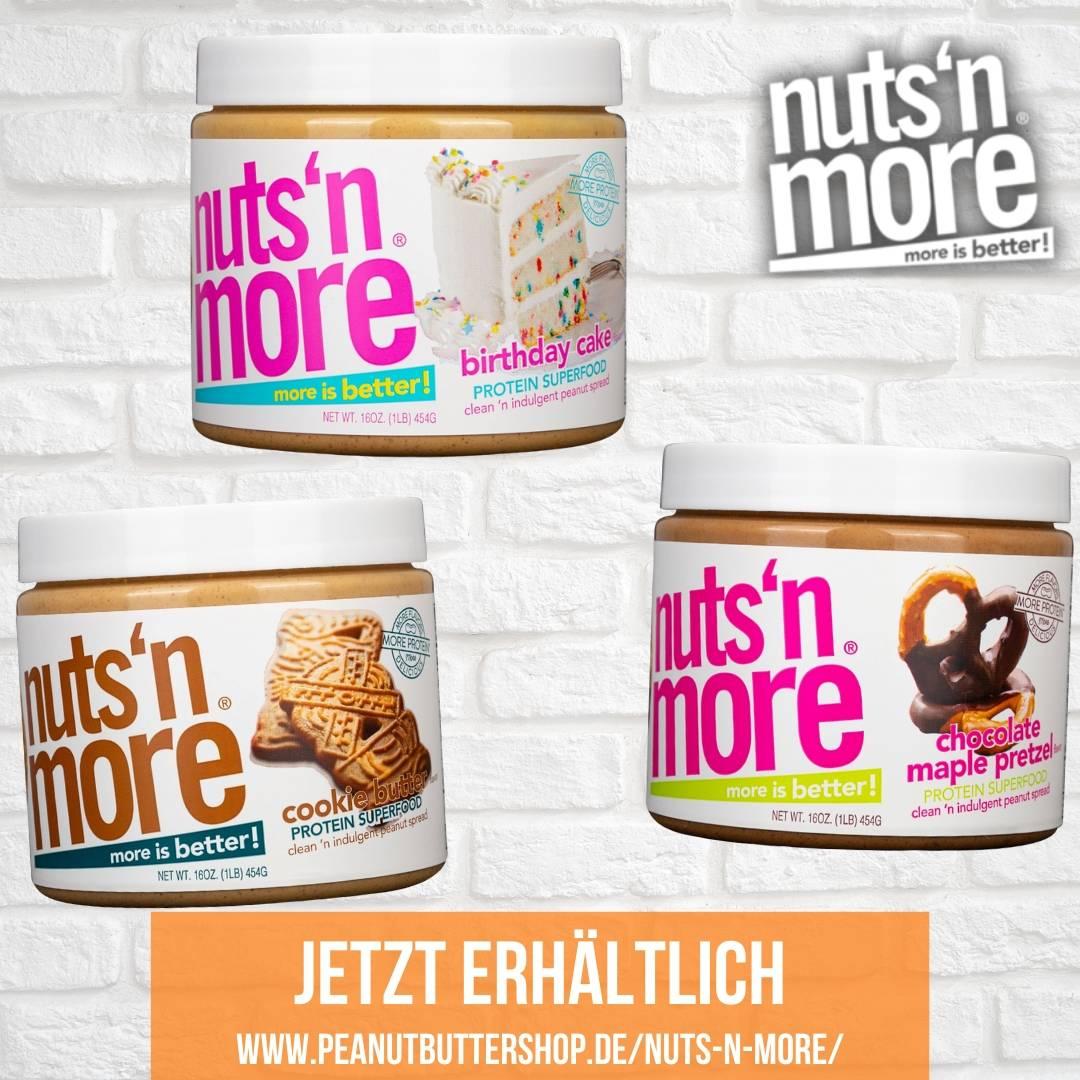Die amerikanische High Protein Peanut Butter von Nuts'n More ist jetzt im Peanutbuttershop angekommen!