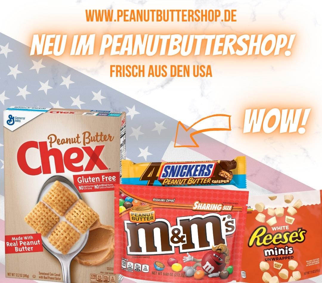 Neuheiten im Peanutbuttershop aus den USA | M&M's, Chex, Reese's und Co.
