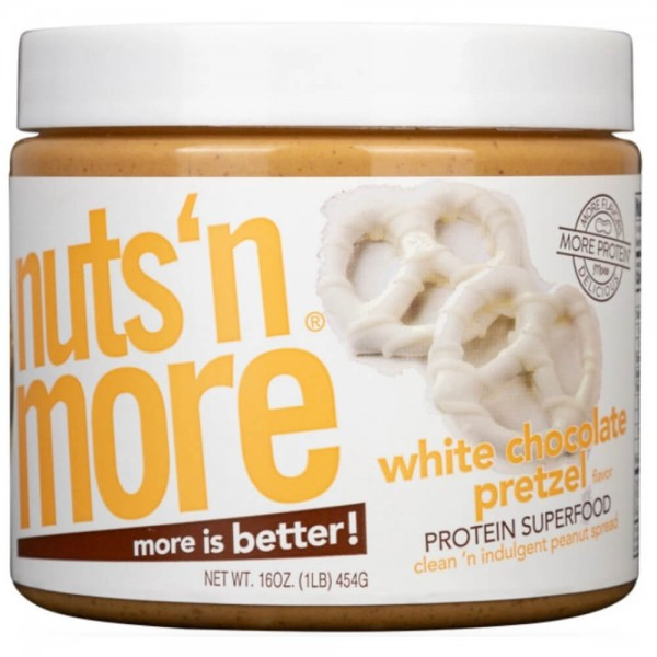 Nuts'n More White Chocolate Pretzel High Protein Peanut Butter