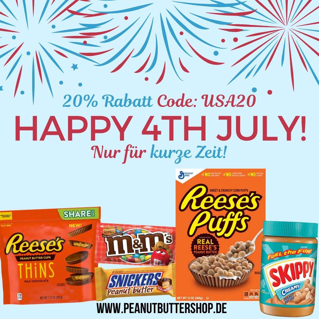 4th July Sale im Peanutbuttershop